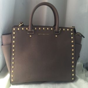 Michael Kors Studded Selma Large Saffiano Leather